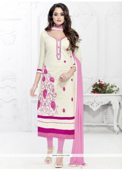 Elegant Cotton Churidar Suit