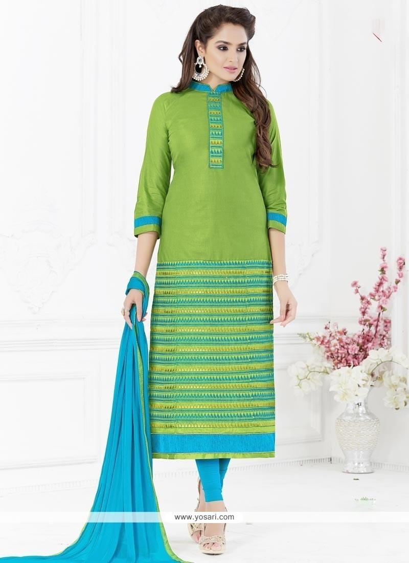 Sensational Cotton Churidar Suit