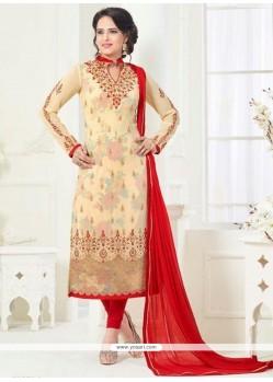 Affectionate Faux Georgette Churidar Designer Suit