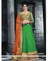 Desirable Green Viscose Lehenga Choli