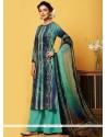 Imposing Faux Chiffon Digital Print Work Designer Palazzo Salwar Suit