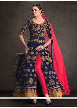 Prominent Blue Designer Floor Length Suit