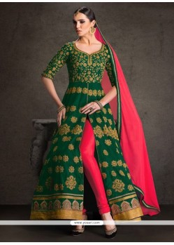 Cute Banglori Silk Designer Floor Length Suit