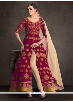 Remarkable Patch Border Work Banglori Silk Designer Floor Length Suit
