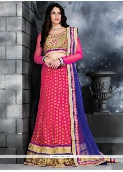 Dignified Pink Viscose Lehenga Choli