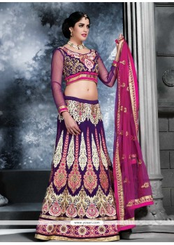 Girlish Purple Georgette Lehenga Choli