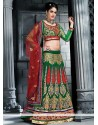 Genius Green Georgette Lehenga Choli