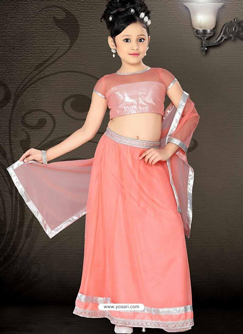 Girls Incredible Orange Art Silk in Embroidered Readymade Salwar Kameez