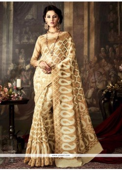 Princely Gold Weaving Work Traditional Saree