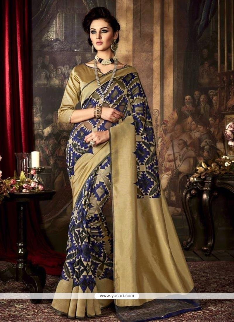 Adorable Art Silk Navy Blue Traditional Saree