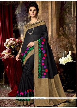 Beckoning Black Art Silk Traditional Saree