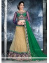 Fashionistic Beige Net Lehenga Choli