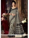 Weaving Art Silk Traditional Saree In Black And Grey
