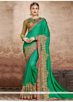 Invigorating Patch Border Work Classic Designer Saree