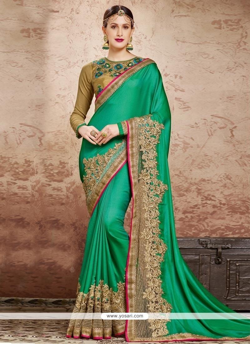 Invigorating Patch Border Work Classic Designer Saree