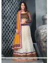 Eyeful Off White Net Lehenga Choli