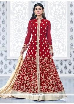 Mouni Roy Faux Georgette Designer Floor Length Suit