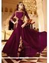 Dainty Resham Work Faux Georgette Designer Floor Length Suit