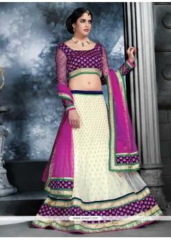 Epitome Off White Net Lehenga Choli