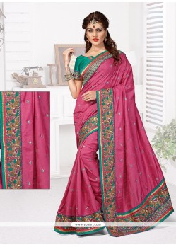Celestial Manipuri Silk Resham Work Designer Traditional Saree