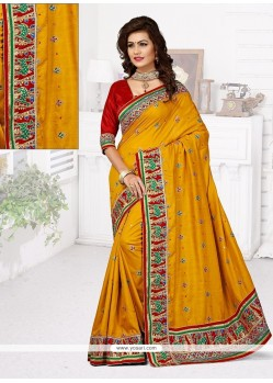 Tempting Manipuri Silk Designer Traditional Saree