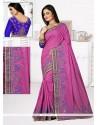 Unique Lavender Manipuri Silk Designer Traditional Saree