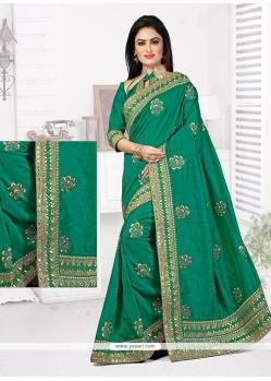 Beauteous Bhagalpuri Silk Embroidered Work Designer Traditional Saree