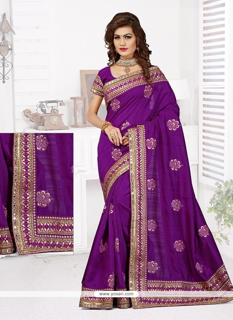 Dilettante Bhagalpuri Silk Patch Border Work Designer Traditional Saree