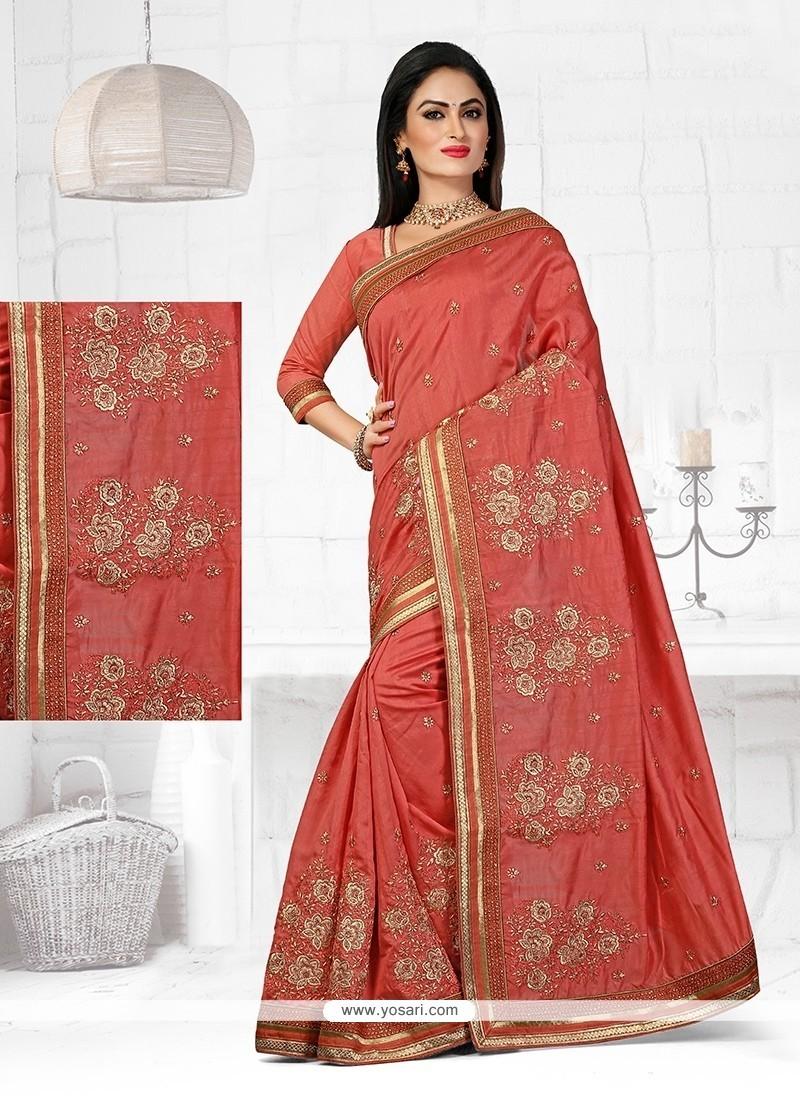Sparkling Bhagalpuri Silk Patch Border Work Designer Traditional Saree