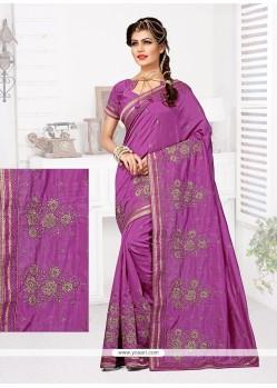 Exceptional Purple Designer Traditional Saree