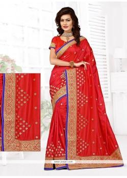 Incredible Art Silk Stone Work Designer Traditional Saree