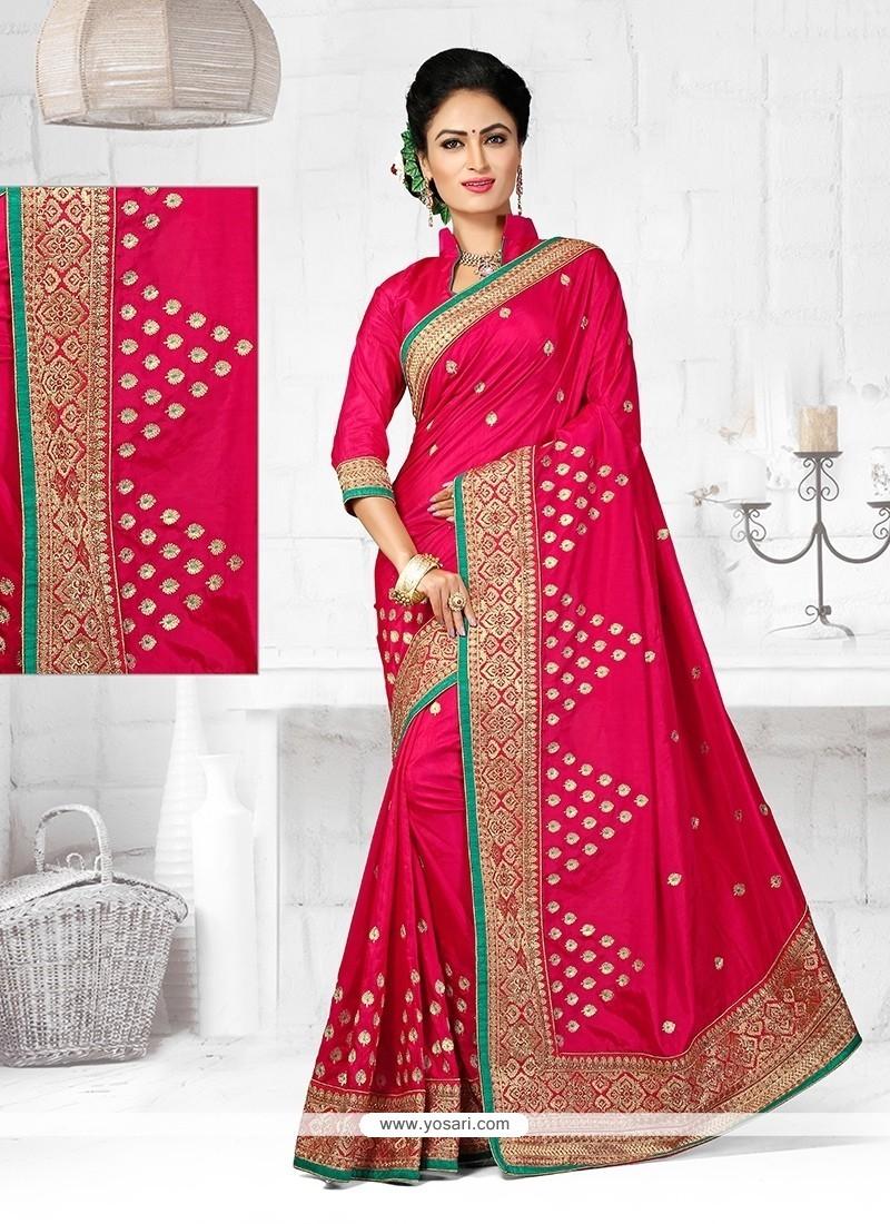 Staggering Patch Border Work Art Silk Designer Traditional Saree