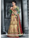 Beige Embroidery Work Lehenga Choli
