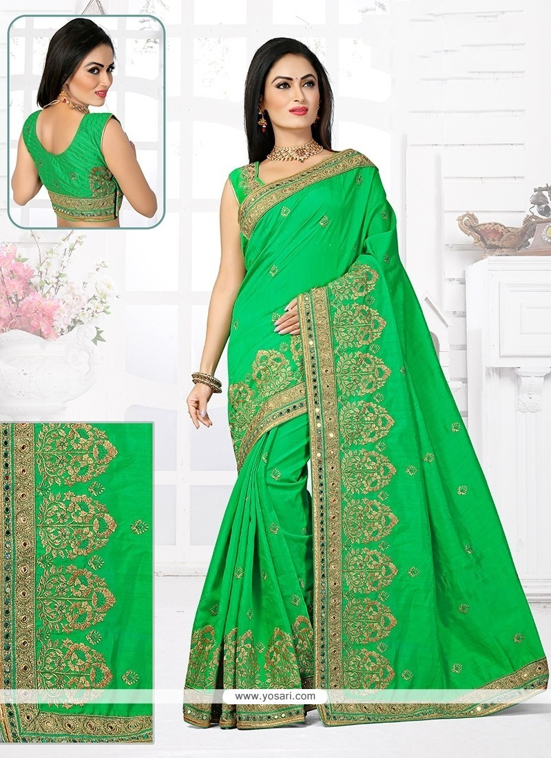 Invaluable Bhagalpuri Silk Resham Work Designer Traditional Saree