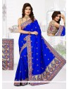 Resham Bhagalpuri Silk Designer Traditional Saree In Blue