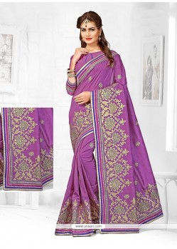 Noble Bhagalpuri Silk Zari Work Designer Traditional Saree
