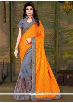 Prepossessing Art Silk Embroidered Work Traditional Saree