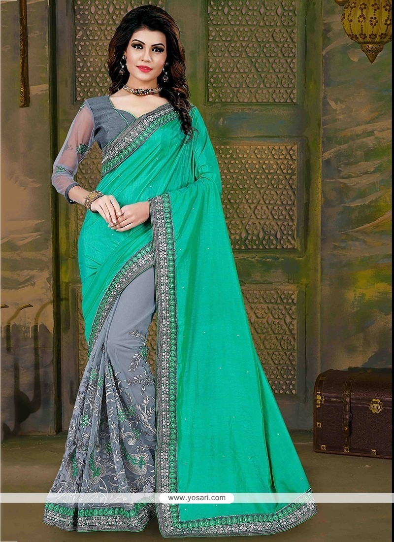 Impeccable Patch Border Work Art Silk Traditional Saree
