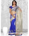 Sonorous Net Lace Work Casual Saree