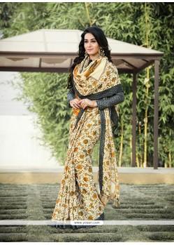 Astonishing Pashnima Silk Print Work Printed Saree