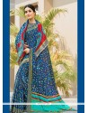 Baronial Multi Colour Print Work Printed Saree