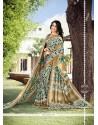 Lovable Pashnima Silk Print Work Printed Saree
