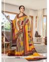 Delightful Multi Colour Printed Saree