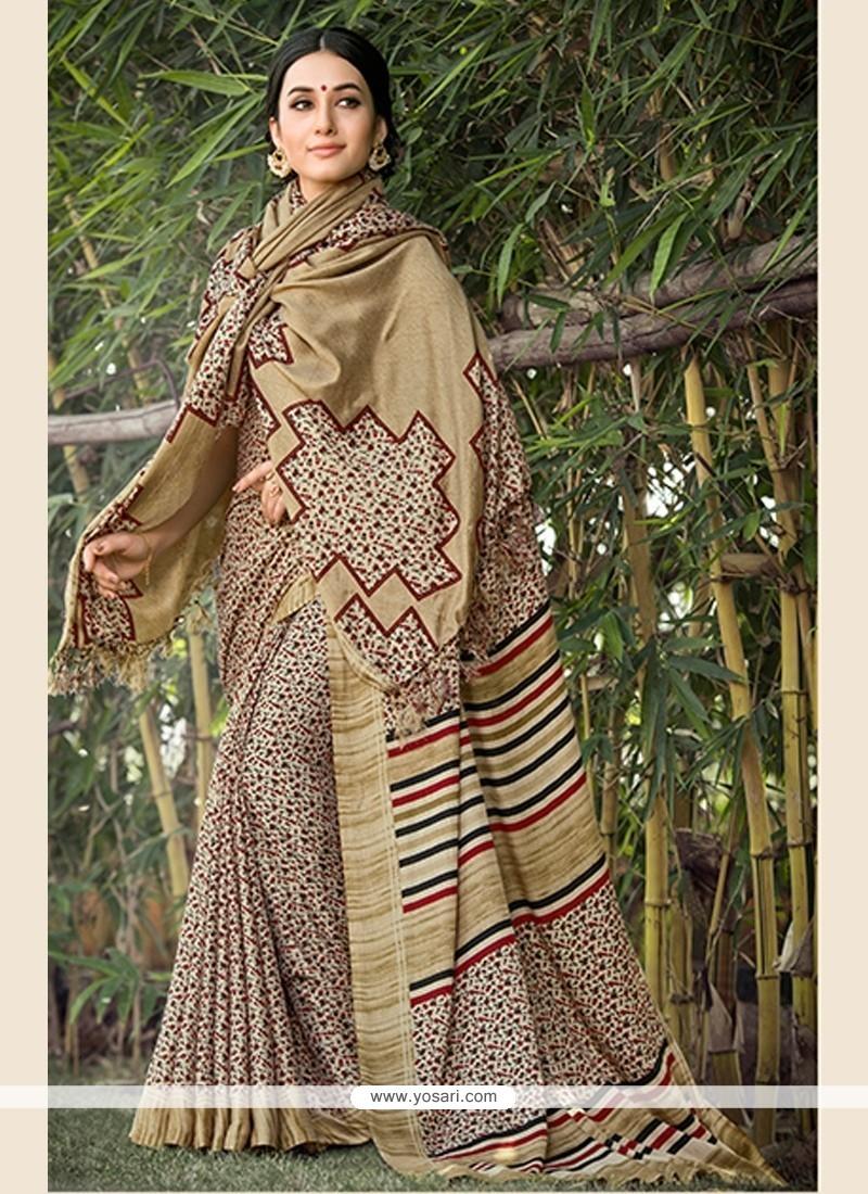 Multi Colour Print Work Pashnima Silk Printed Saree
