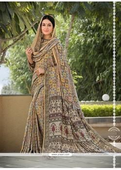 Fine Pashnima Silk Printed Saree