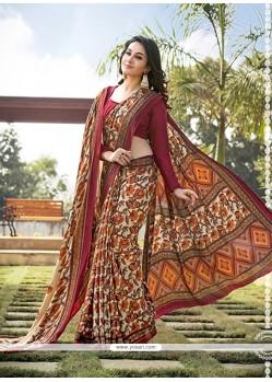 Superlative Multi Colour Printed Saree