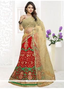 Fetching Net Red Embroidered Work Lehenga Choli