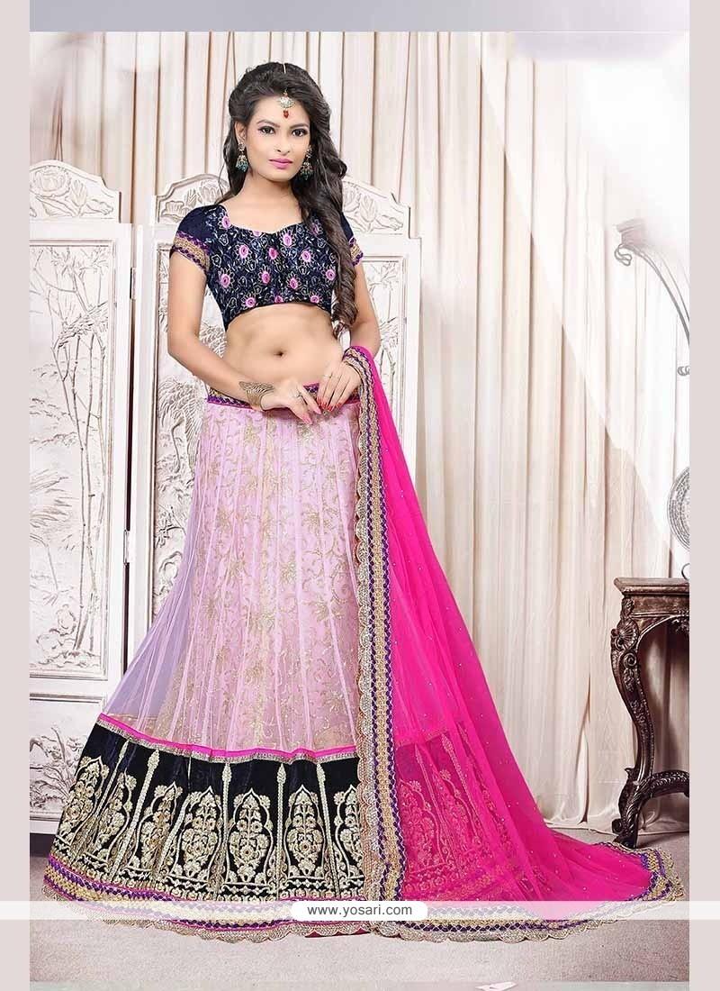 Unique Net Pink Lehenga Choli