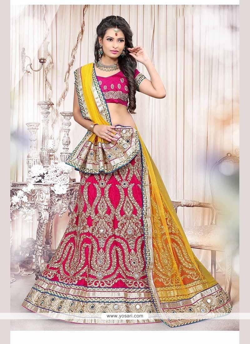 4ebed84da2 Buy Stylish Fancy Fabric Hot Pink Lehenga Choli | Wedding Lehenga Choli