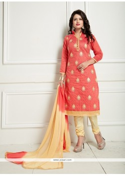 Unique Chanderi Churidar Suit